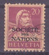 Schweiz Dienstmarke SDN: Zumstein-Nr. 3 (Tellbrustbild, 1922) Gestempelt - Servizio