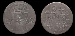 Germany Brandenburg-Preussen Friedrich II 1/24 Thaler 1782A - [ 1] …-1871 : Etats Allemands