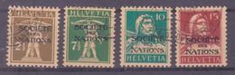 Schweiz Dienstmarke SDN: Serie Zumstein-Nr. 27/30 (1928) Gestempelt - Servizio