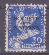Schweiz Dienstmarke SDN: Zumstein-Nr. 39 (Abrüstung 1932) Gestempelt - Servizio