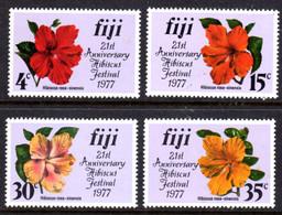 FIJI - 1977 HIBISCUS SET (4V) FINE MNH ** SG 541-544 - Fiji (1970-...)