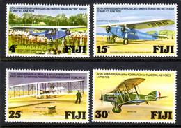 FIJI - 1978 AVIATION ANNIVERSARIES SET (4V) FINE MNH ** SG 552-555 - Fiji (1970-...)