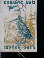 M2-11 CZECHOSLOVAKIA 1955 1955 - Protection Of Hunting Game  Eurasian Woodcock Scolopax Rusticola - Scatole Di Fiammiferi - Etichette