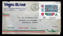 Mexico 1970 Cover To Denmark  ( Lot 371 ) - México