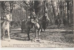 ENVIRONS DE BAGNOLES DE L'ORNE - CHASSE A COURRE EN ANDAINES -1000° CERF DE M. LE MARQUIS DE CORNULIER - LES PIQUEURS - - Bagnoles De L'Orne