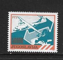 YOUGOSLAVIE 1989 COURANT-LA POSTE-AVION  YVERT N°2254  NEUF MNH** - Nuovi