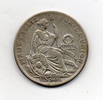 Perù - 1934 - 1 Sol - Argento - (FDC24892) - Perú