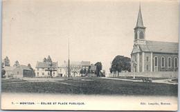 Belgique - LIEGE - MONTZEN - église Et Place Publique - Altri