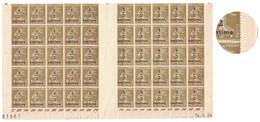BAS DE FEUILLE NEUVE ** Avec LA VARIÉTÉ Du S RETOUCHÉ EN CASE 60 Au TYPE SEMEUSE N° 279A TTB Avec COIN DATÉ 1934 - 1906-38 Sower - Cameo