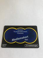 7:494 -  Sweden Medlemskort 2007 - Schweden