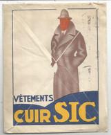 GANDON 6FR BELLE ENVELOPPE A FENETRE PUB VETEMENTS CUIR SIC GRENOBLE ISERE 1948 - 1921-1960: Modern Tijdperk