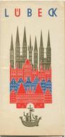 Deutschland - Lübeck 1964 - Faltblatt Mit 12 Abbildungen - Beiliegend Hotel- Und Gaststättenverzeichnis Mit Stadtplan - Dépliants Turistici
