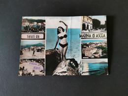 Cartolina Salerno Saluti Da Marina Di Ascea - Salerno