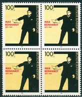 A13-31-5 BRD - 4x Mi 1703 - ** Postfrisch - 100Pf  Max Reinhard - Unused Stamps