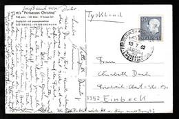 GÖTEBORG-FREDERIKSHAVN POSTAD OMBORD PA MS PRINSESSAN CHRISTINA 10.7.62 Auf CAK - Sellos