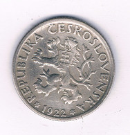 1 KORUN  1922  TSJECHOSLOWAKIJE /7452/ - Czechoslovakia