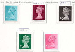 PIA - GRAN BRET - 1970-80 : Francobolli Di Uso Comune  - Regina Elisabetta -   (Yv  605+60608-609-13+614-20) - Nuovi
