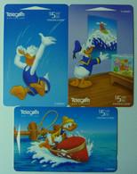 New Zealand - GPT - Set Of 3 - Donald Duck Story Part 3 - Donald Jumping, Boating & Surfing - Mint - Nuova Zelanda