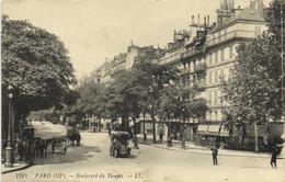 PARIS (IIIe) Boulevard Du Temple Voiture Attelages  Recto Verso - Arrondissement: 03