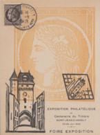 Carte  Maximum  FRANCE   Centenaire  Du   Timbre   SAINT  JEAN  D' ANGELY   1949 - 1940-49