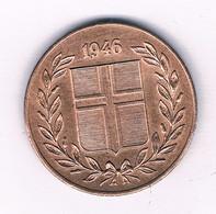 5 AURAR  1946 IJSLAND /7457/ - Iceland