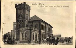 CPA Porto Alegre Brasilien, Estacao Da Estrada De Ferro - Other