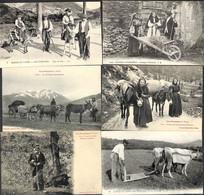 Scènes Et Types - Les Pyrénées - Lot 6 Cartes (animée) - Non Classés