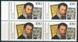 A13-30-7) BRD - 4x Mi 1705 - ** Postfrisch - 100Pf       Claudio Monteverdi - Unused Stamps