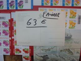 BELGIQUE LOT DE 63 EURO DE FACIALE-CARNETS+1 BLOCS - Markenheftchen 1953-....