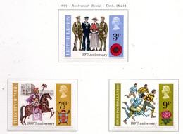 PIA - GRAN BRET - 1971 : Anniversari Diversi -  (Yv  643-45) - Nuovi