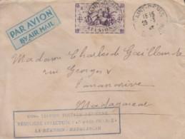 Enveloppe    REUNION   100éme  Liaison  Aérienne  AIR  FRANCE   Vers  MADAGASCAR   1947 - Covers & Documents