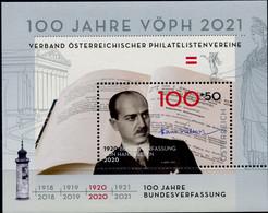 """Austria 2020  SM """"100 Jahre Bundesverfassung V. Hans Kelsen"""" Postfrisch/MNH - 2011-... Unused Stamps"""