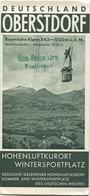 Deutschland - Oberstdorf 30er Jahre - Faltblatt Mit 33 Abbildungen - Dépliants Turistici