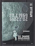16.- AUSTRIA 2019 50th Anniversary Of The First Moon Landing - Raumfahrt