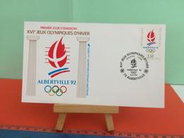 Jeux Olympiques D'hiver ( La Flamme)  73 Albertville 1992- 8.2.1990 -FDC 1er Jour - Coté 2,20€ Y&T - - Wintersport (Sonstige)