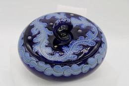 680 - Bonbonnière En Grés D'Alsace Bleu - Signée Edmond Schmits - Autres