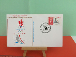 Slalom -  73 Albertville 1992- 19.1991 -FDC 1er Jour - Coté 2,50€ Y&T - - Winter 1992: Albertville