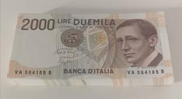 ITALIA BANCONOTE DA LIRE 2000 MARCONI LOTTO DI 81 CONSECUTIVE SERIE VA564105B - VA564185B FDS - 2000 Lire