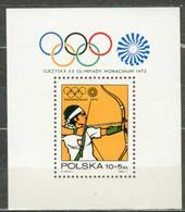 POLAND MNH ** Bloc 57 Jeux Olympiques De MUNICH - Blocks & Sheetlets & Panes
