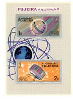 Fujeira 1966-Telstar,cosmos-MI B4A***MNH-Dentelé - Espace