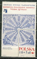 POLAND MNH ** Bloc 58 NICOLAS COPERNIC Exposition à POZNAN - Blocks & Sheetlets & Panes