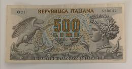 Repubblica Italia 2 Banconote 500 Lire Aretusa 1966 E 1970 - [ 2] 1946-… : Républic