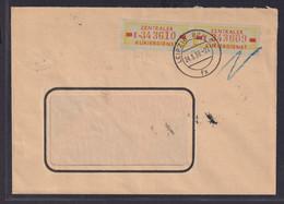 DDR Brief Dienstmarken B 18 MEF 10 Pfg. Paar Nr. E 343610 Ab Leipzig 24.3.1959 - Dienstpost