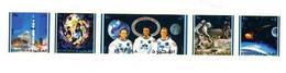 Fujeira 1971-Apollo 14-Mi 642/46***MNH-Dentelé-Bande De Timbr - Espace