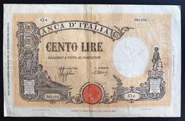 100 LIRE BARBETTI GRANDE B FASCIO 09 12 1942 BIGLIETTO CON CARTA FRESCA E BEI COLORI LOTTO 1585 - 50 Lire