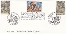 Enveloppe Autriche Belgique 2030 Kerstmis Tentoonnstelling Koksijde Christkindl Beauvoorde - België