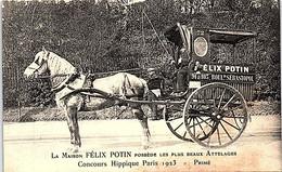 75 - PARIS - 4e La Maison Felix Potin Posséde Les Plus Beaux Attellages - Concours Hippique 1923 - Primé - Arrondissement: 04
