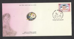 INDIA, 2013,   FDC,  India's Academy Of Pediatrics,  Jabalpur Cancellation - FDC