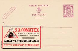 Carte Entier Postal Publibels 637 Comatex  Achat Vente D'immeuble - Postwaardestukken