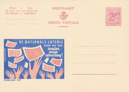 Carte Entier Postal Publibels 2191 De Nationale Loterij - Postwaardestukken